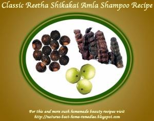 homemade reetha amla shikakai shampoo