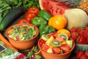 fruit and veggies for glowing skin