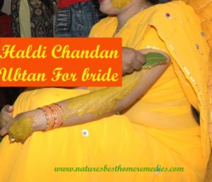 haldi chandan ubtan for bride
