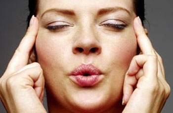 In This Facial Yoga Pose You Need To Place Your Both Index Fingers At The End Corner Of Eyebrows Would Be Following Trajectory Along