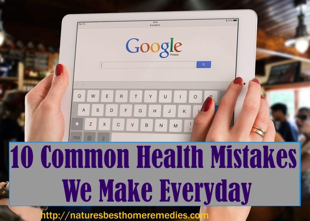 tips to avoid health mistakes